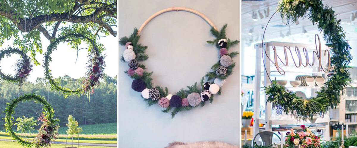 Family Party Games >> Party Decor Trend: Hoola Hoop Wreaths - Life the Place to ...